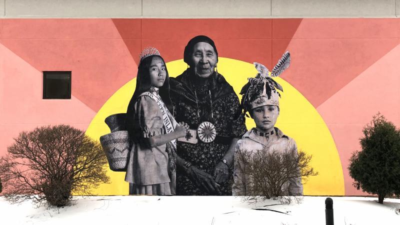 Mural, Native Americans, Lawrence University