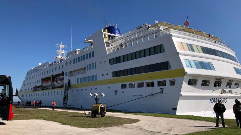 300-passanger ship from Hamburg, Germany
