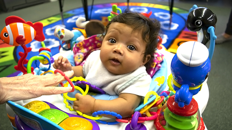 Jordyn, the 3-month-old daughter of Shared Journeys Charter School student Jennifer Cannizzaro