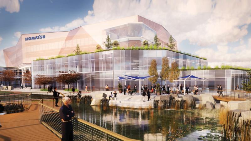 A rendering of Komatsu'ssouth harbor campus