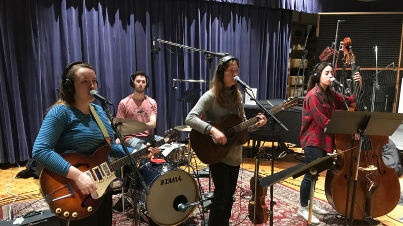 Folk Band Lula Wiles in Wisconsin Public Radio Studio