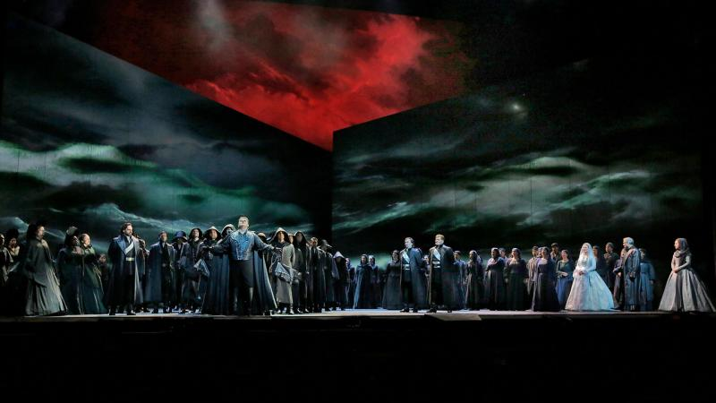 """A scene from the Met production of Verdi's """"Otello."""""""