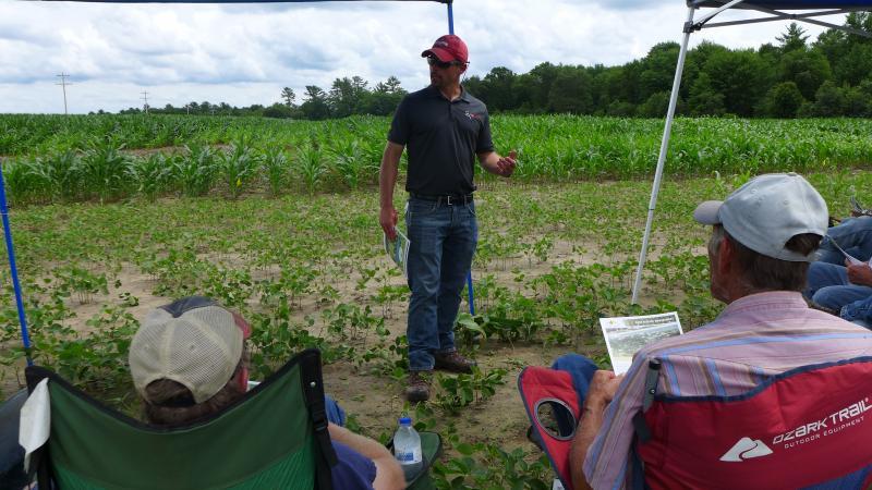 Damon Smith talks to farmers