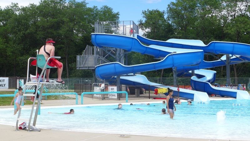 The Walter Bauman Aquatic Center in Middleton