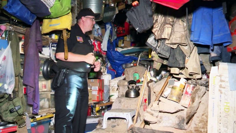 Authorities investigate bunker in Marathon County.