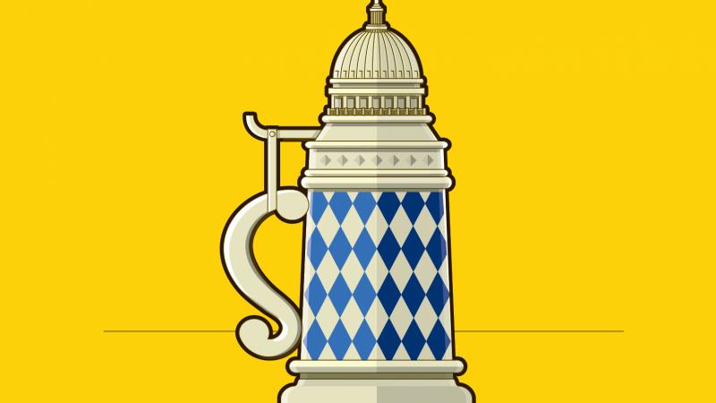 Capitol beer stein illustration