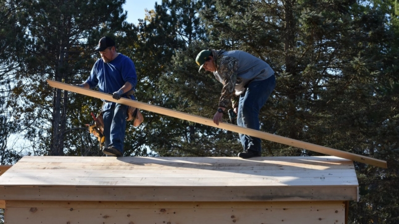 Construction of the tiny house was completed this summer, and the first resident moved in shortly after