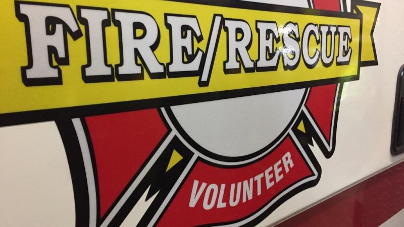 volunteer fire department sign