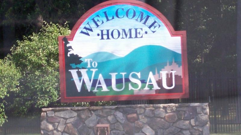 Wausau welcome sign