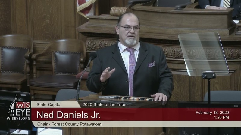 Ned Daniels Jr. gives 2020 State of the Tribes address