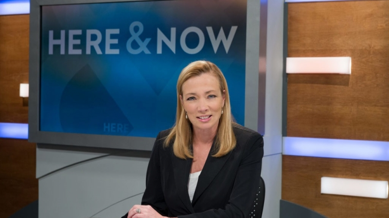 """""""Here & Now"""" host Frederica Freyburg"""