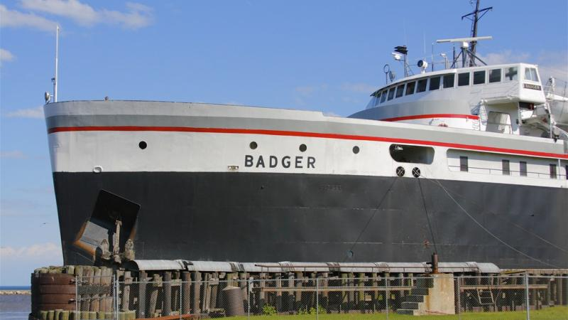 A car ferry in Lake Michigan