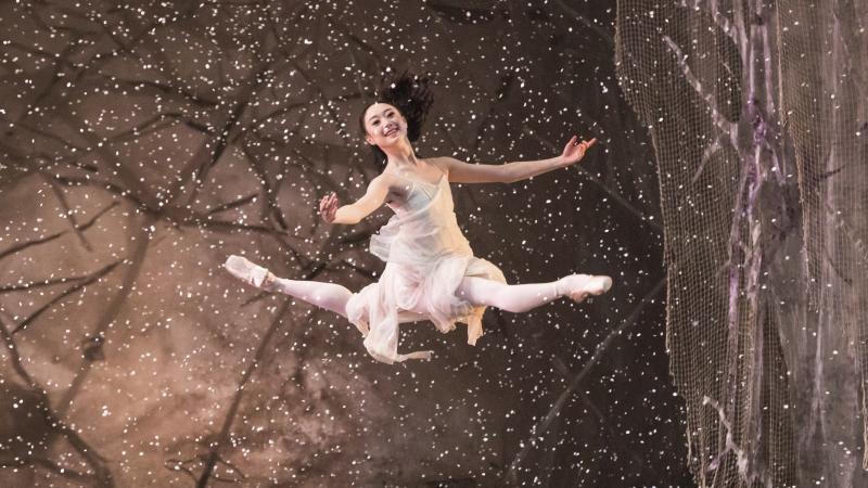 A ballet dancer in The Nutcracker