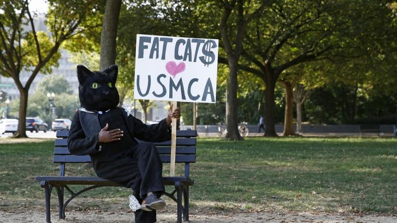 USMCA protester