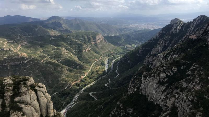 Mountains outside of Barcelona, Spain