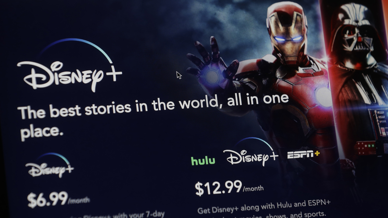 An introductory page on the Disney Plus website