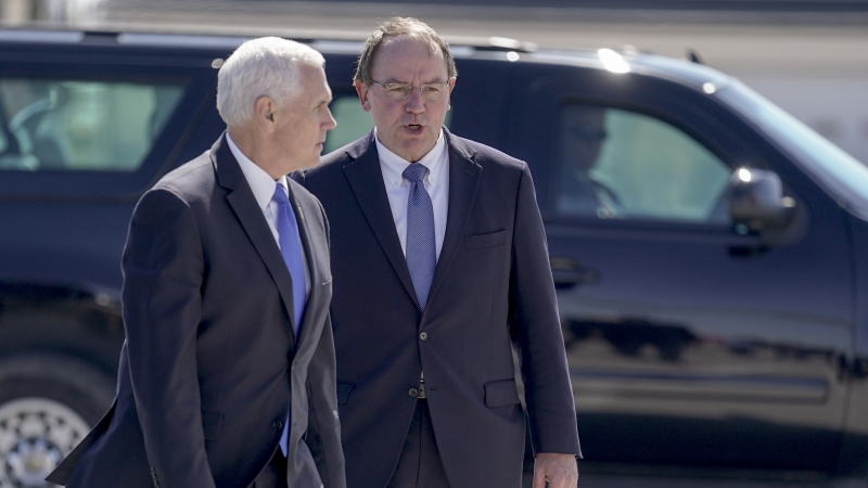 Vice President Mike Pence Walks With Representative Tom Tiffany