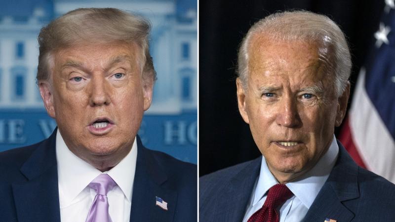 President Donald Trump and former-Vice President Joe Biden Combination Picture