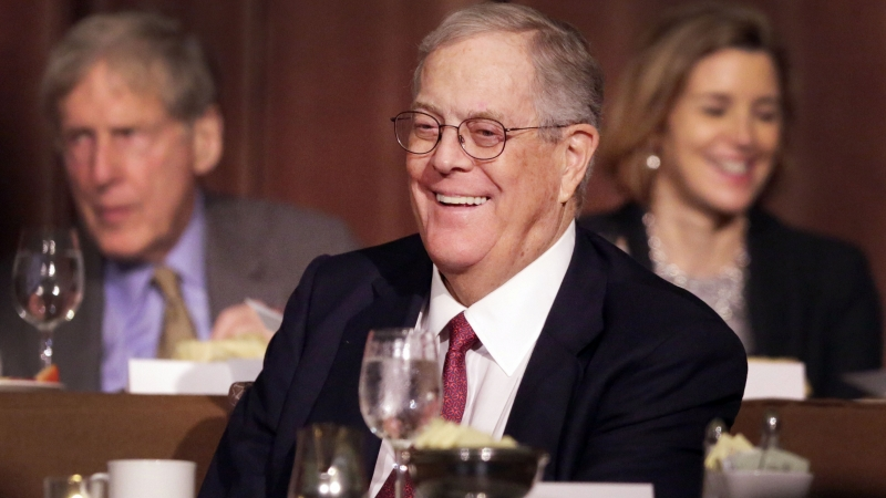 David Koch attends an event at the Economic Club of New York in 2012