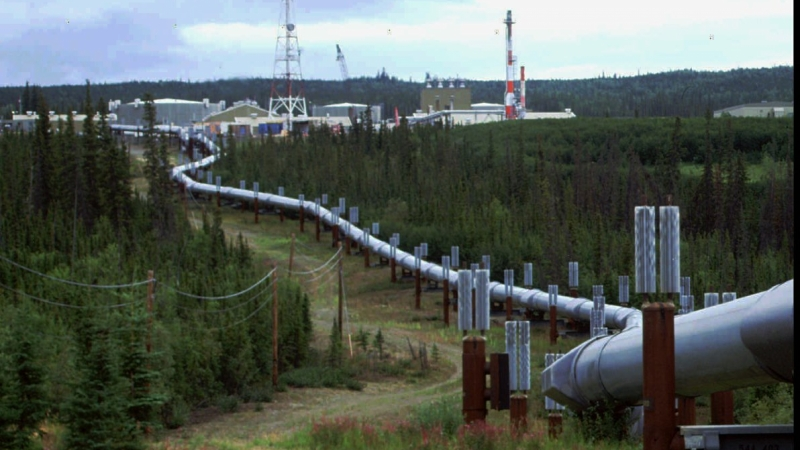 The Trans-Alaska pipeline and pump station