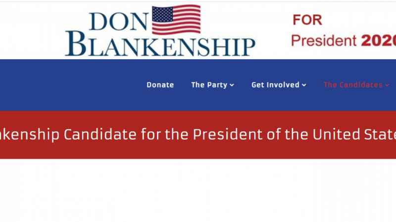 Don Blankenship's campaign website