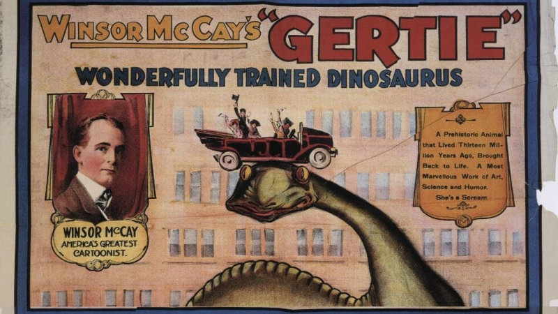 Advertising poster for Winsor McCay's film Gertie the Dinosaur