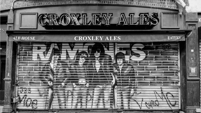 Ramones street art in East Village, New York City