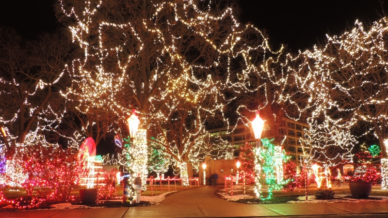 The Rotary Lights Display at Riverview Park in La Crosse, Wis.