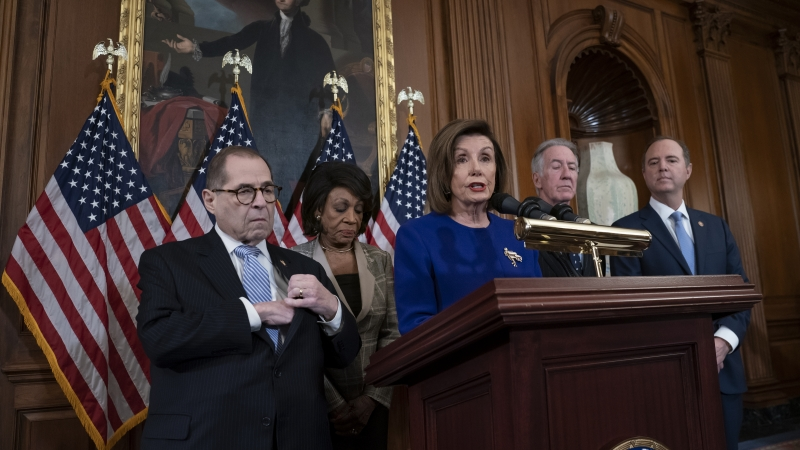 House Democrats announce two articles of impeachment against President Trump