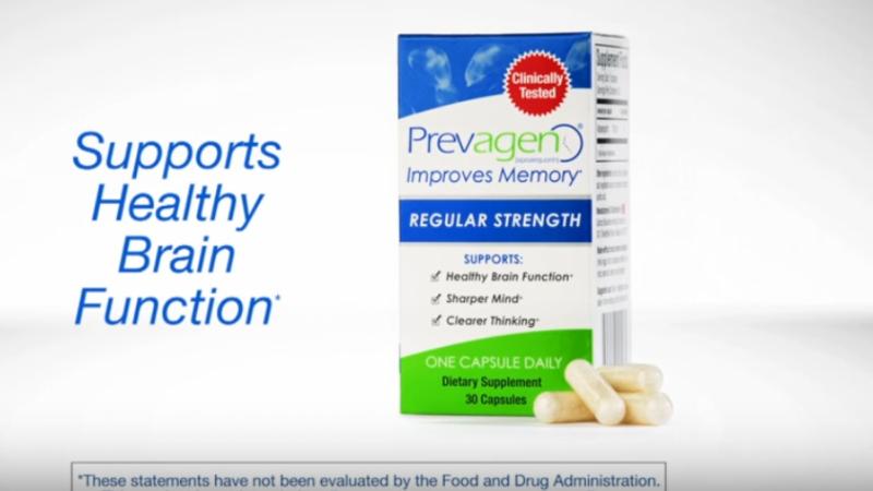 Screenshot from a Prevagen ad