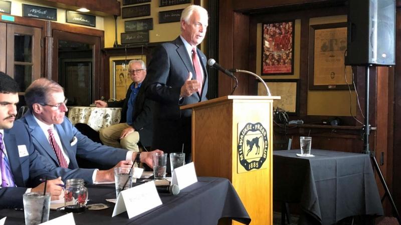 Senator Ron Johnson speaks at the Milwaukee Press Club