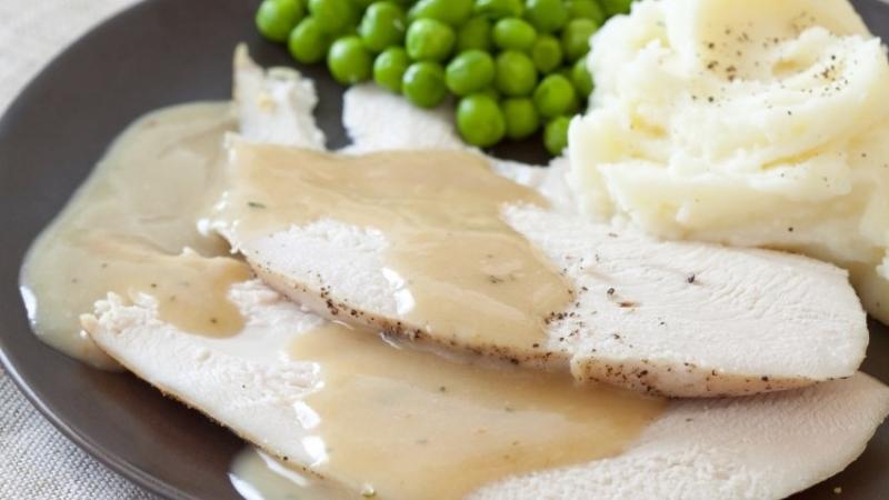 Turkey breast and gravy
