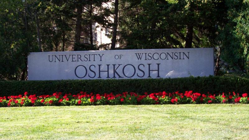 UW-Oshkosh sign