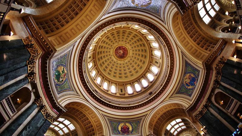 Wisconsin capitol interior dome