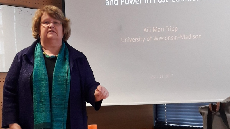 Photo of UW Professor Aili Mari Tripp