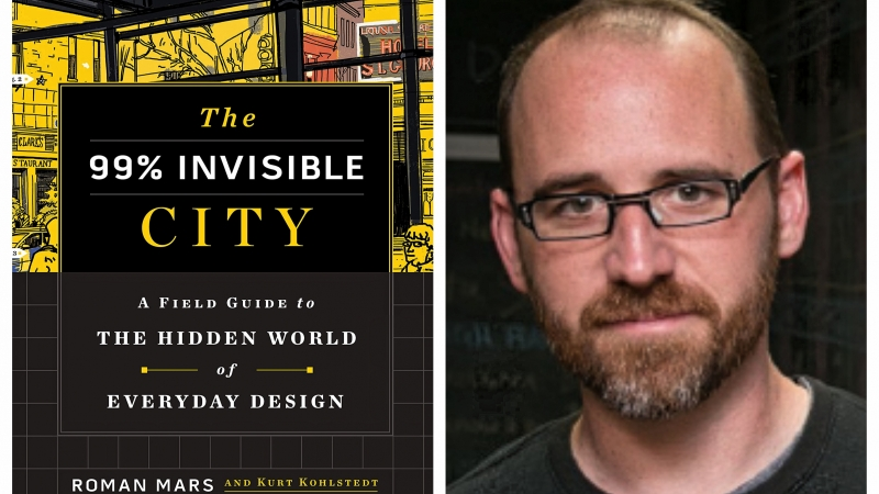 99% Invisible podcast book cover and co-author Roman Mars