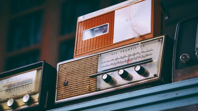 two vintage radios