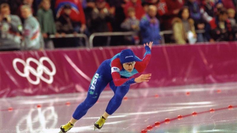 Speed skater Bonnie Blair