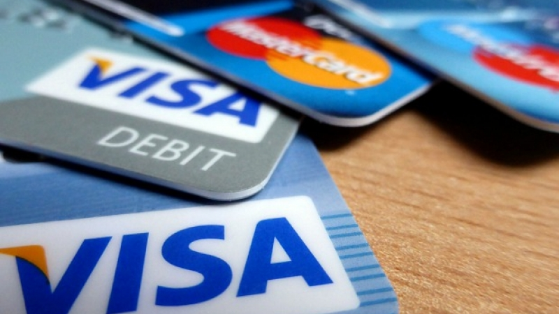 Phot of four credit cards