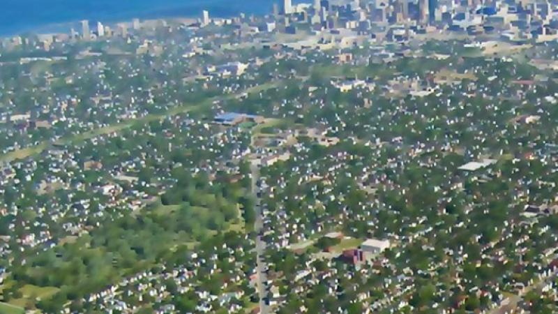 A stylized aerial view of north Milwaukee