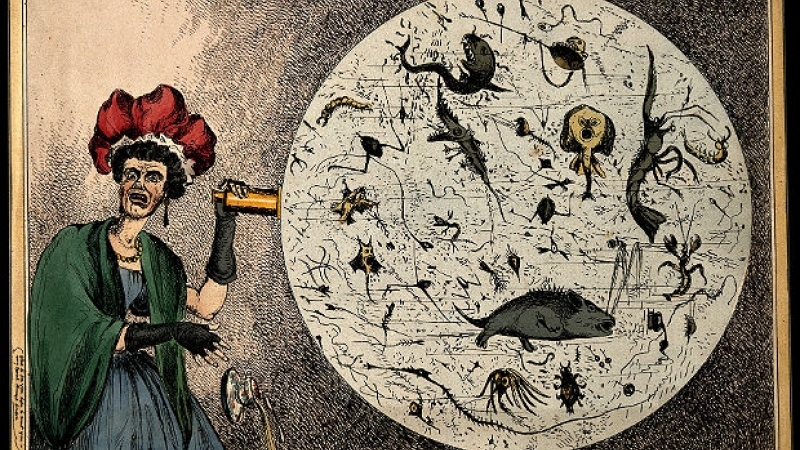 """""""Monster Soup"""", an 1828 illustration by William Heath"""