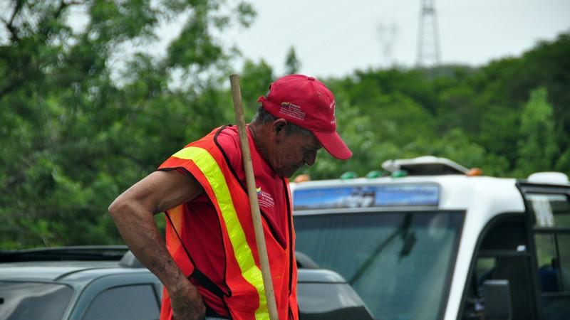 An older worker.
