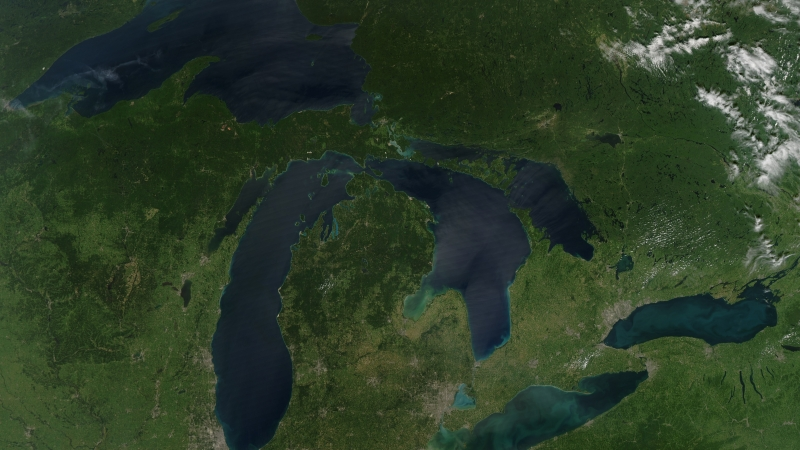 Satellite of Upper Midwest