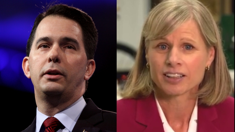 Gov. Scott Walker and Democratic challenger Mary Burke