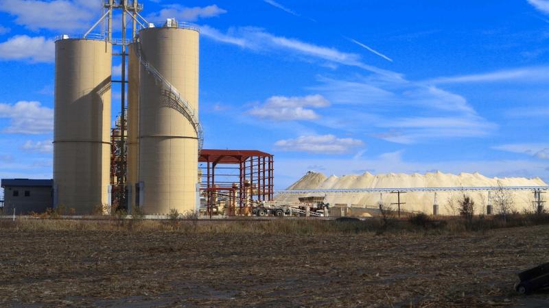 Frac-sand mining facility