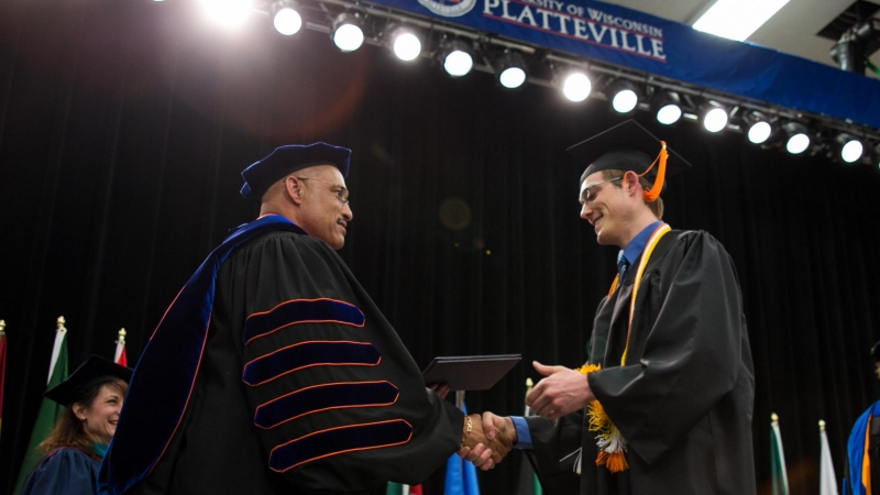 UW-Platteville graduation ceremony