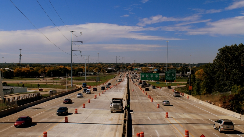 Highway construction in Madison