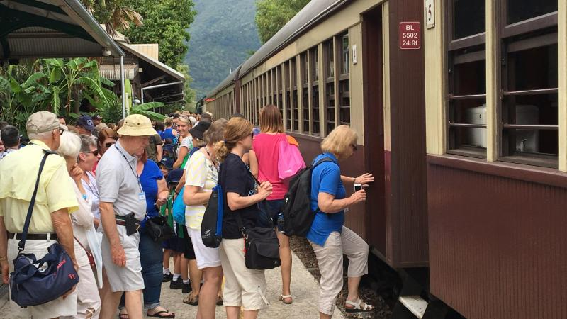 Boarding the Kuranda Scenic Train - Photo by Allen Rieland