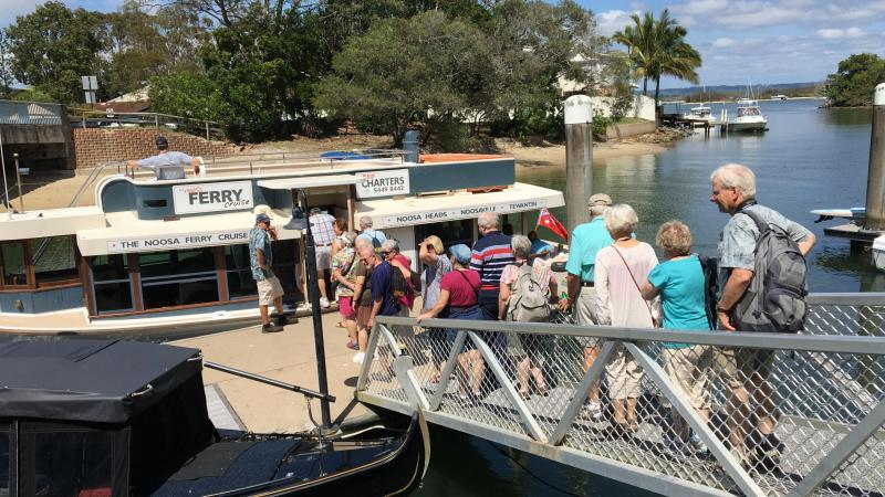 "Boarding a Noosa River ""Eco-tour"" - photo by Allen Rieland"