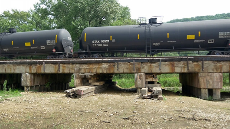 This bridge needed emergency shoring up and was replaced last summer. Another example of bridges in disrepair. (There are many more old bridges in various stages of disrepair south of La Crosse.)
